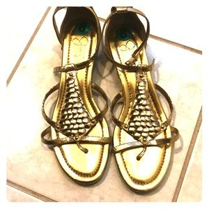 NWT Gold Jessica Simpson Sandals.